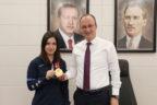 Başkan Örki şampiyon sporcuyu ağırladı